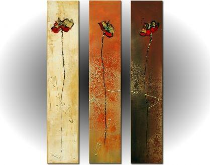 Vícedílné obrazy - Vysoké květiny