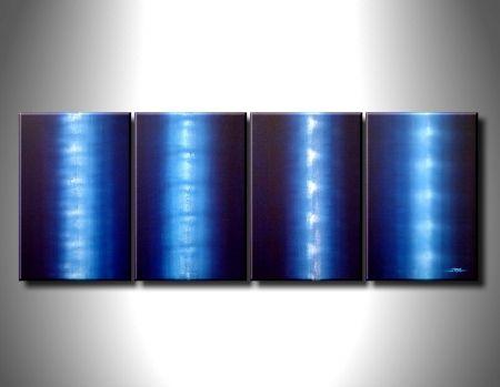Vícedílné obrazy - Zářivě modré