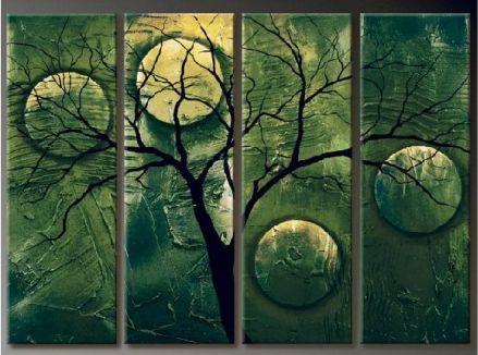Vícedílné obrazy - Zelený strom