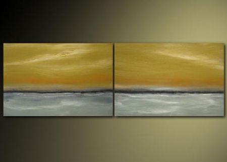 Vícedílné obrazy - Zlaté nebe