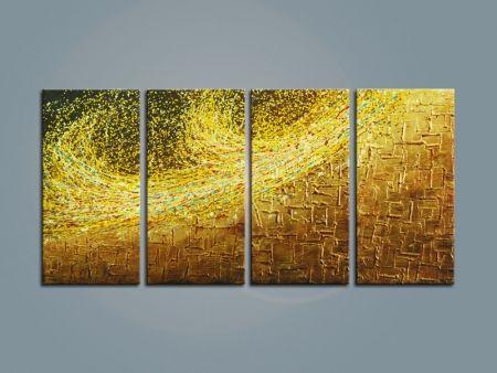 Vícedílné obrazy - Zlato