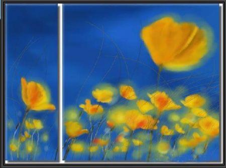 Vícedílné obrazy - Žlutá louka