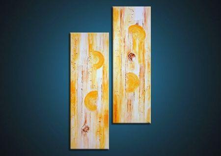 Vícedílné obrazy - Žluté dřevo