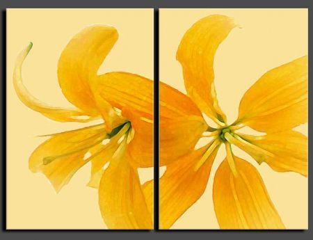 Vícedílné obrazy - Žlutý květ