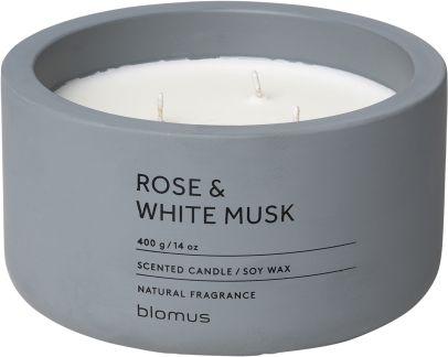Vonná svíčka Rose & White Musk - kulatá