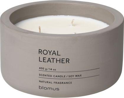 Vonná svíčka Royal Leather - kulatá