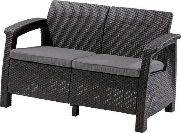 Zahradní lavice CORFU LOVE SEAT, antracit