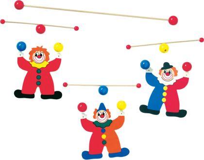 Závěsný kolotoč, žongléři