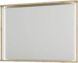 Zrcadlo Laura 90, dub wellington/bílá