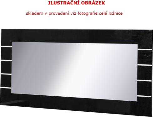 Zrcadlo LINN, bílá/černý lesk