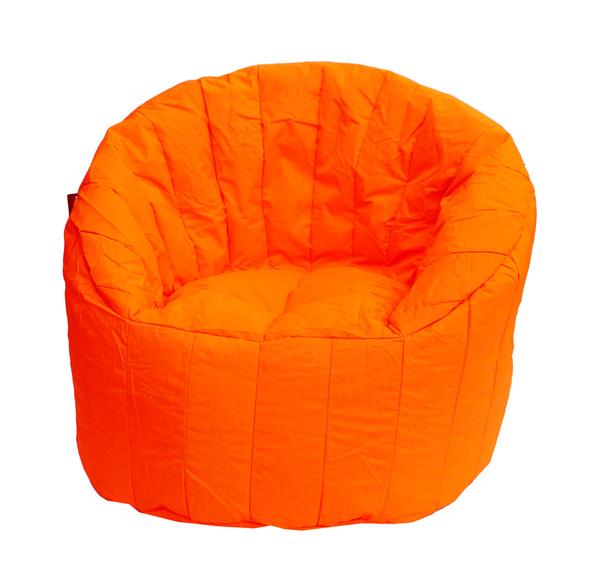 Zářivě oranžový sedací vak BeanBag Lumin Chair