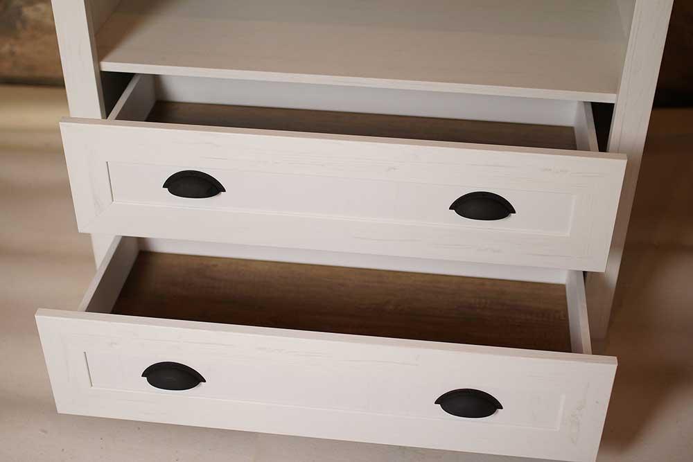 Šatní skříň Provence - detail zásuvek